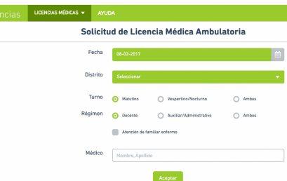 Agilización online de licencias médicas